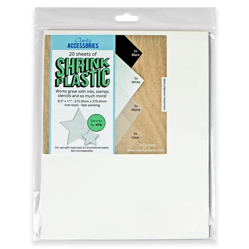Claritystamp Shrink Plastic, Mixed
