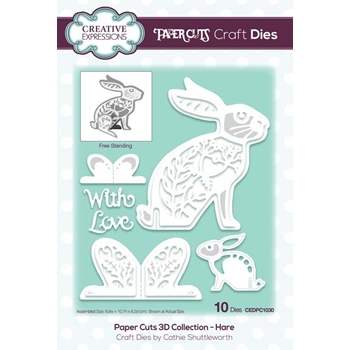 Creative Expressions HARE Paper Cuts 3D Dies cedpc1030