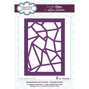 Creative Expressions CRACKED GLASS Background Collection Dies cedlh1023