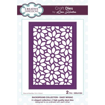 Creative Expressions DAISY MOSAIC Background Collection Dies cedlh1024