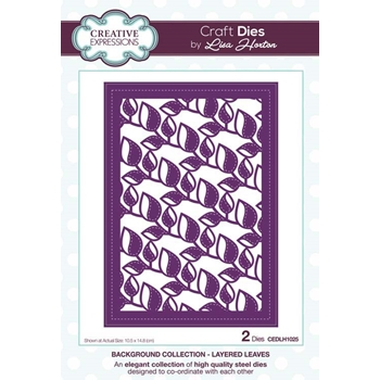 Creative Expressions LAYERED LEAVES Background Collection Dies cedlh1025