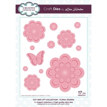 Creative Expressions FLORAL ROUNDS Cut and Lift Collection Dies cedlh1011