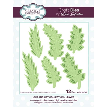 Creative Expressions LEAVES Cut and Lift Collection Dies cedlh1012