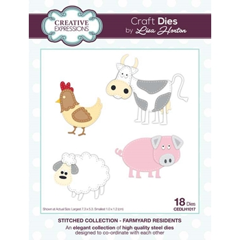 Creative Expressions FARMYARD RESIDENTS Stitched Collection Dies cedlh1017