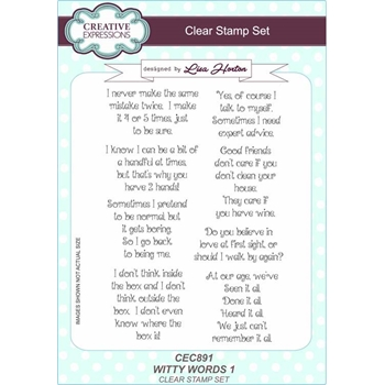 Creative Expressions WITTY WORDS 1 Clear Stamps cec891