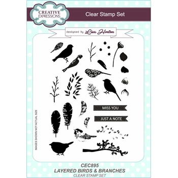 Creative Expressions LAYERED BIRDS AND BRANCHES Clear Stamps cec895