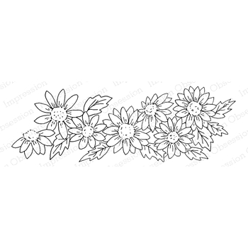 Impression Obsession Cling Stamp DAISY BORDER E7929