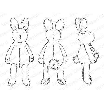 Impression Obsession Cling Stamp CUDDLE BUNNIES H2473