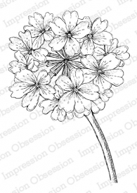 Impression Obsession Cling Stamp VERBENA BLOSSOM F16363