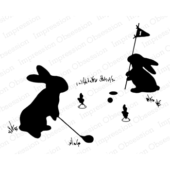 Impression Obsession Cling Stamp HARE IN ONE G20445