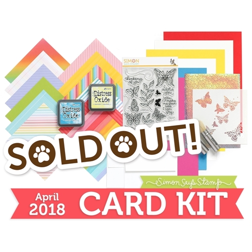Simon Says Stamp Card Kit of The Month APRIL 2018 BEAUTIFUL DAY ck0418