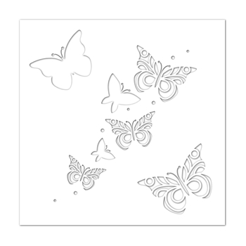 Simon Says Stamp Stencil BUTTERFLIES ssst121419