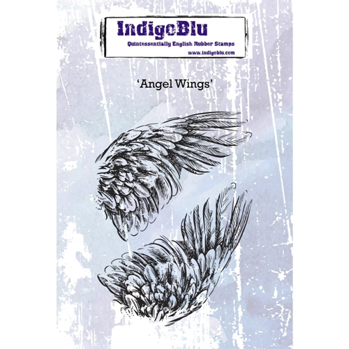 IndigoBlu Cling Stamp ANGEL WINGS Rubber ind0379 Preview Image