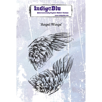 IndigoBlu Cling Stamp ANGEL WINGS Rubber ind0379