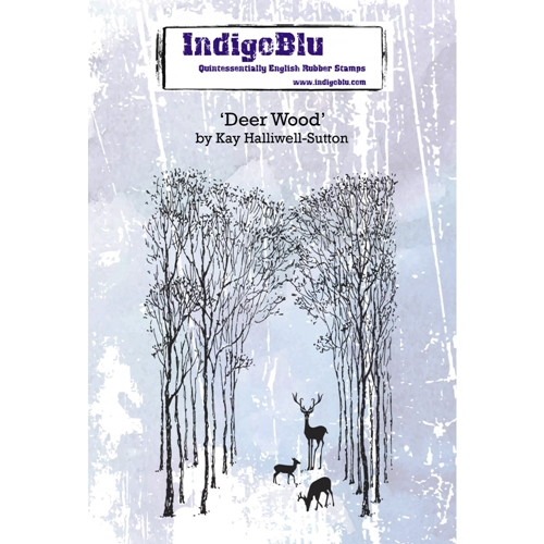 IndigoBlu Cling Stamp DEER WOOD Rubber ind0378 Preview Image
