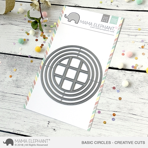 Mama Elephant BASIC CIRCLES Creative Cuts Steel Dies Preview Image