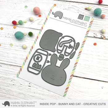 Mama Elephant INSIDE POP BUNNY AND CAT Creative Cuts Steel Dies