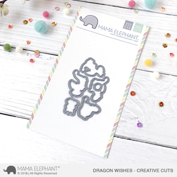 Mama Elephant DRAGON WISHES Creative Cuts Steel Dies