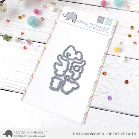Mama Elephant DRAGON WISHES Creative Cuts Steel Dies zoom image
