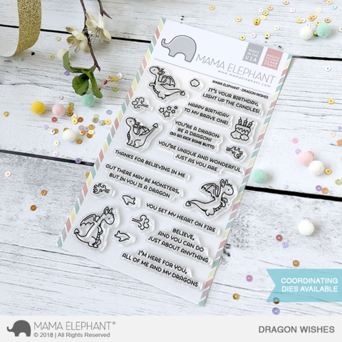 Mama Elephant Clear Stamp DRAGON WISHES Preview Image