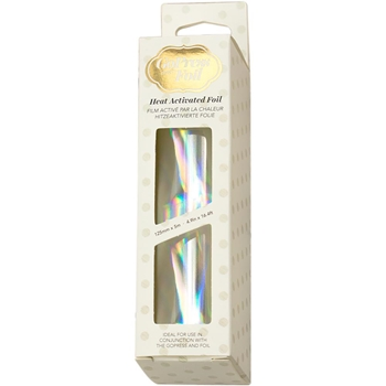 Couture Creations IRIDESCENT MATERIAL SILVER Heat Activated Foil co726051