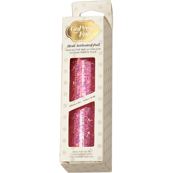 Couture Creations IRIDESCENT FLAKES PINK Heat Activated Foil co726048