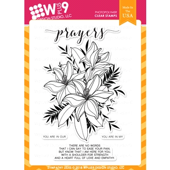 Wplus9 SYMPATHY LILIES Clear Stamps cl-wp9sl