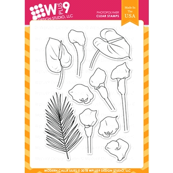 Wplus9 MODERN CALLA LILIES Clear Stamps cl-wp9mcl