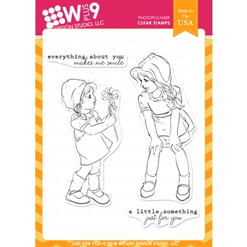 Wplus9 JUST FOR YOU Clear Stamps cl-wp9jfy