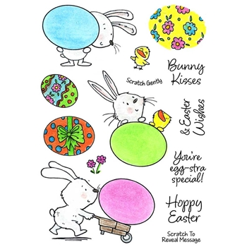 Inky Antics EGG-CELLENT BUNNIES Clear Stamp Set 11398mc