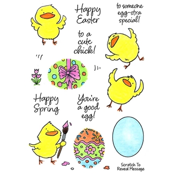 Inky Antics EGG-CELLENT CHICKS Clear Stamp Set 11399mc