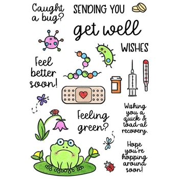 Inky Antics GET WELL Clear Stamp Set 11403mc