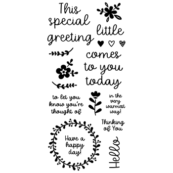 Inky Antics LITTLE GREETINGS Clear Stamp Set 11402lc