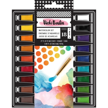 American Crafts Vicki Boutin WATERCOLOR SET Mixed Media Set All the Good Things 343920