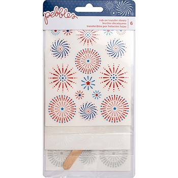 Pebbles Inc. FIREWORKS Rub-On Transfer Sheets Land That I Love 733800