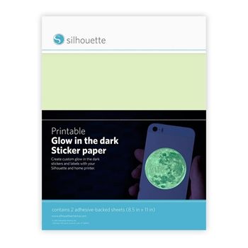 Silhouette GLOW IN THE DARK Printable Sticker Paper 01900