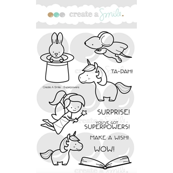 Create A Smile SUPERPOWERS Clear Stamps clcs70