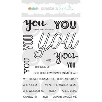 Create A Smile ALL ABOUT YOU Clear Stamps clcs71*