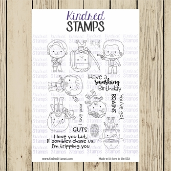 Kindred Stamps SURVIVING ZOMBIES Clear Stamp Set ks5779