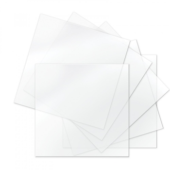 Sizzix THERMOPLASTIC 6x6 CLEAR Sheets 663060