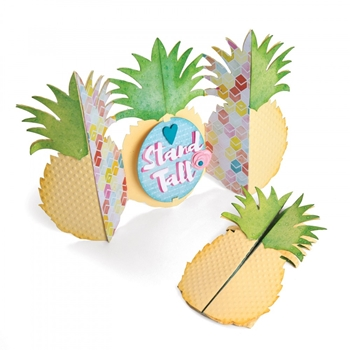 Sizzix PINEAPPLE FOLD A LONG Thinlits Die Set 662727