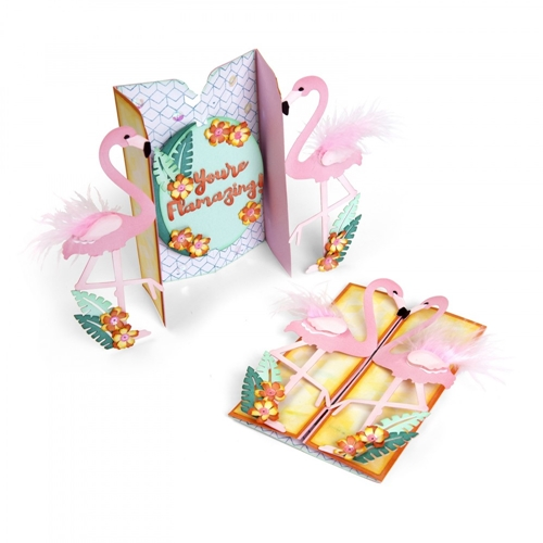 Sizzix FLAMINGO FOLD A LONG Thinlits Die Set 662726 Preview Image