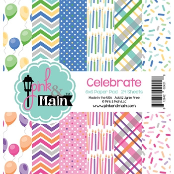 Pink and Main 6x6 CELEBRATION Paper Pad 024218