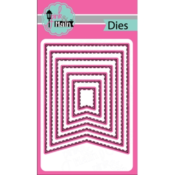 Pink and Main LARGE FISH TAIL BANNER Die Set PNM142