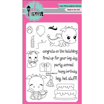 Pink and Main FIRED UP Clear Stamp Set PM0264