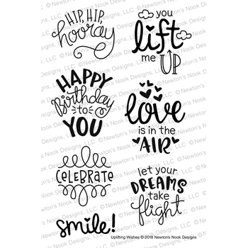 Newton's Nook Designs UPLIFTING WISHES Clear Stamp Set NN1803S03