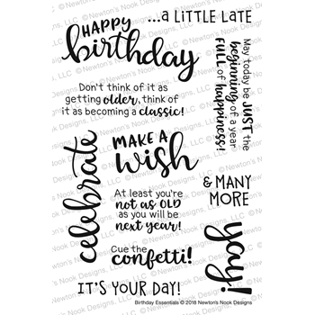 Newton's Nook Designs BIRTHDAY ESSENTIALS Clear Stamp Set NN1803S04