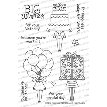 Newton's Nook Designs HOLDING HAPPINESS Clear Stamp Set NN1803S02