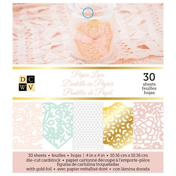 DCWV 4x4 PAPER LACE Mat Stack cp-012-00673