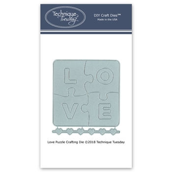 Technique Tuesday LOVE PUZZLE Crafting DIY Steel Dies 02631